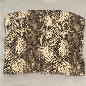 UO snake print silence and noise tube top